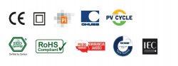 Certyfikaty i symbolika dla naszych Panele PV